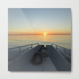 Little Cayman Sunset Metal Print
