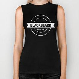 Original BlackBeard Logo White Biker Tank