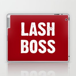 Lash Boss - Red and White Laptop & iPad Skin