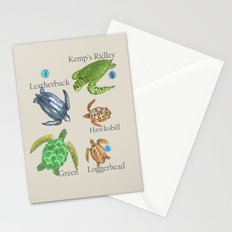 Sea Turtle Types Stationery Cards