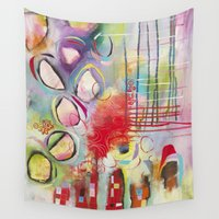 climbing Wall Tapestries featuring Climbing by Belinda Fireman