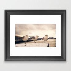 One legged friend - Hoboken, NJ Framed Art Print