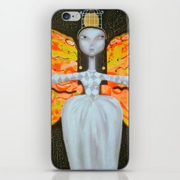 Mademoiselle butterfly iPhone Skin