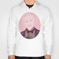the grand budapest hotel Hoodies featuring The Grand Budapest Hotel II by Itxaso Beistegui Illustrations