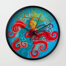 aztec god Wall Clock