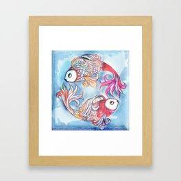 2 Fish Framed Art Print