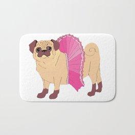 Ballerina Pug Bath Mat