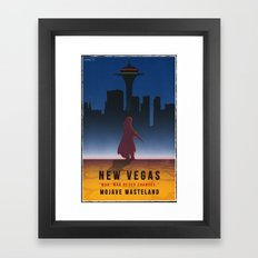 Fallout New Vegas - Vintage Style Vacation Poster Framed Art Print