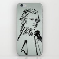 mozart iPhone & iPod Skins featuring Wolfgang Amadeus Mozart by bananabread