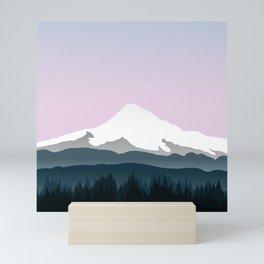 Mount Hood Forest - Pink Haze Mini Art Print