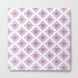 Purple Dots Pattern Metal Print