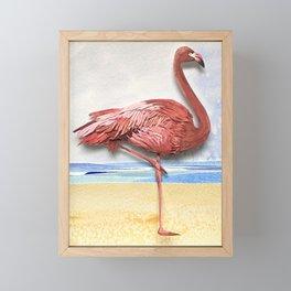 Weekend Flamingo Framed Mini Art Print