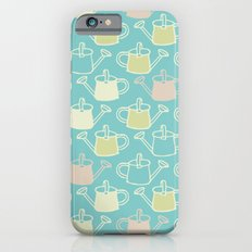 Watering Cans On Teal Slim Case iPhone 6s