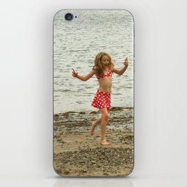 girl on the beach iPhone Skin