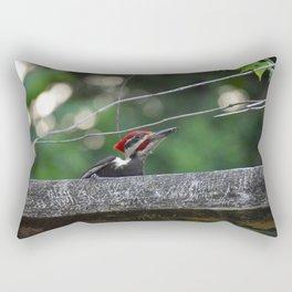 Pileated Wood Pecker Rectangular Pillow