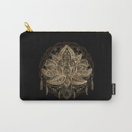 Lotus Black & Gold Carry-All Pouch