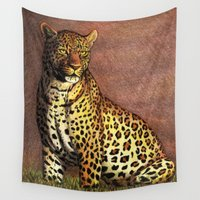 panther Wall Tapestries featuring Panther by Savousepate