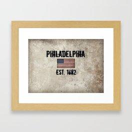 Tribute to Philadelphia, City of Brotherly Love Framed Art Print