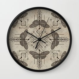 Sacred  Geometry  Zebra Longwing Butterfly Wall Clock