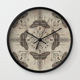 Sacred  Geometry  Zebra Longwing Butterfly Wall Clock