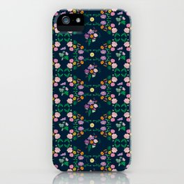 Floral garden Repeat Pattern Illustrated Print iPhone Case