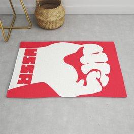 USSR Fist poster Rug