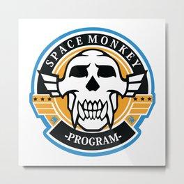 Space Monkey Program Metal Print