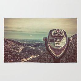 Wanderlust Vintage Tourist Binoculars Rug