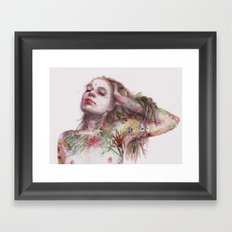 Leaves on Skin Framed Art Print