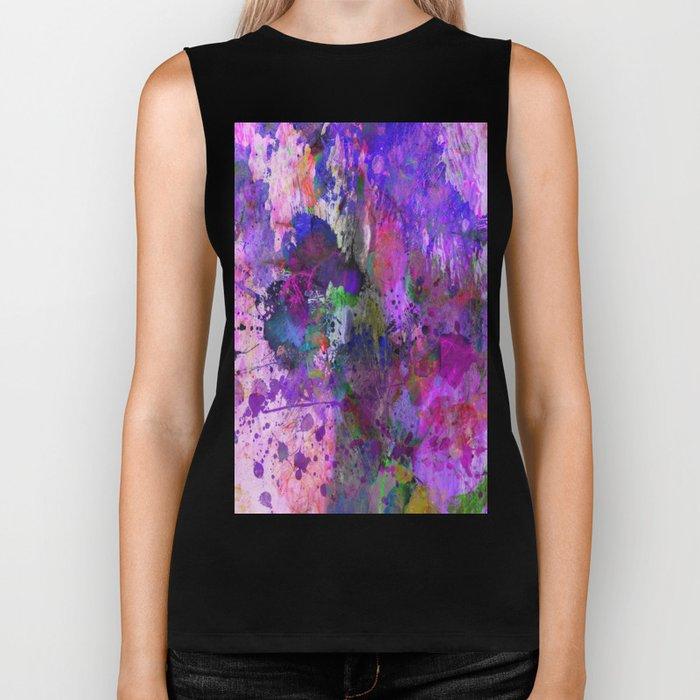Lilac Chaos - Abstract Biker Tank