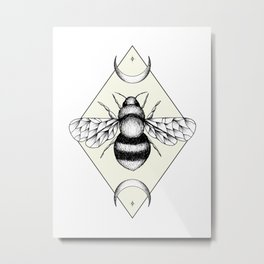 Bee Confident Metal Print