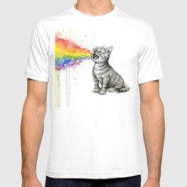 Kitten Puking Rainbow T-shirt