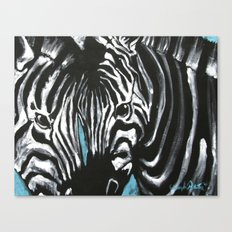 Eye of Contrast {Zebra Love} Canvas Print