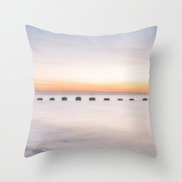 Dusk Sea Throw Pillow