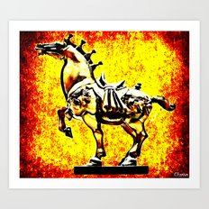 Grindhouse Warhorse  Art Print