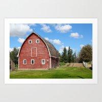 farm Art Prints featuring farm by Cpayne