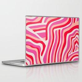 pink zebra stripes Laptop & iPad Skin