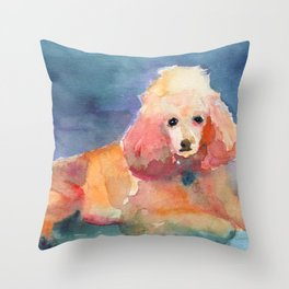 Poodle My Darling Throw Pillow