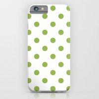 Green Polka Dots Slim Case iPhone 6s