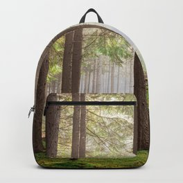 Light in the forest - North Kessock, Highlands, Scotland Backpack