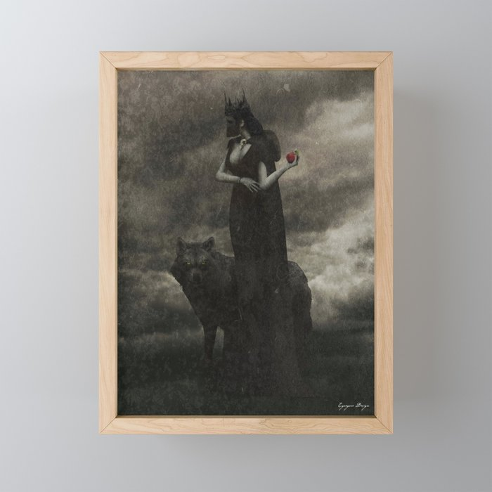 By the Pricking of Her Thumbs Framed Mini Art Print
