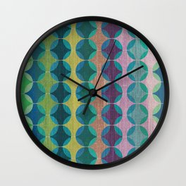 Colour Harmonies II Wall Clock