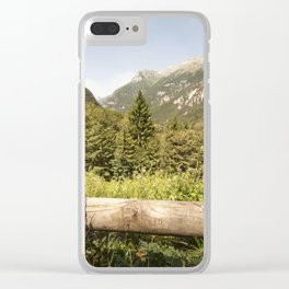 A mountain landscape Clear iPhone Case