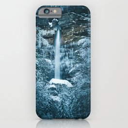 Magical waterfall Peričnik in Mojstrana, Slovenia iPhone Case