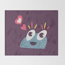 Kawaii Cute Candy Character Throw Blanket