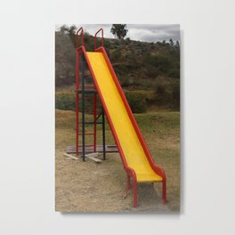 Painted Slide in a Playground Metal Print