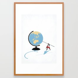 HOW THE WORLD WILL END Framed Art Print