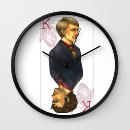 Hannibal King of Hearts Wall Clock