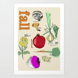 Fresh From the Farmers Market: Fall Art Print