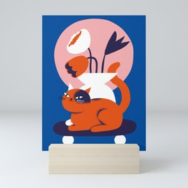 Flowercat Mini Art Print